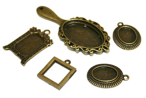 Brass picture frame charms